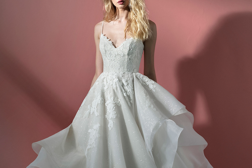 scout-hayley-paige-blush-sparkle-lace-wedding-dress-ballgown-laura-and-leigh-bridal